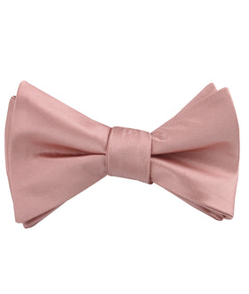 Dusty Blush Pink Satin Self Bow Tie