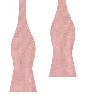 Dusty Blush Pink Twill Self Bow Tie