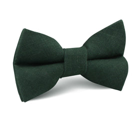 Dusty Emerald Green Linen Kids Bow Tie