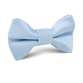 Dusty Ice Blue Weave Kids Bow Tie