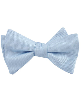 Dusty Ice Blue Weave Self Bow Tie