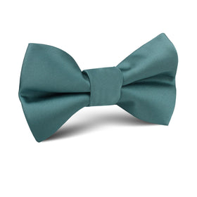Dusty Jade Green Satin Kids Bow Tie