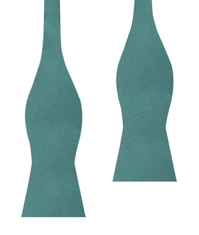 Dusty Jade Green Satin Self Bow Tie