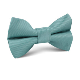 Dusty Jade Green Twill Kids Bow Tie