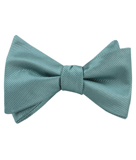 Dusty Jade Green Twill Self Tie Bow Tie