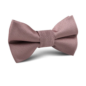 Dusty Mauve Quartz Weave Kids Bow Tie