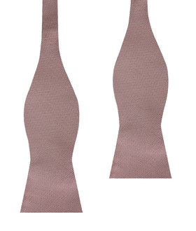 Dusty Mauve Quartz Weave Self Bow Tie