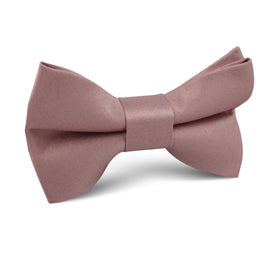 Dusty Mauve Satin Kids Bow Tie