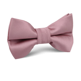 Dusty Rose Pink Satin Kids Bow Tie