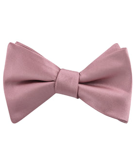 Dusty Rose Pink Satin Self Bow Tie