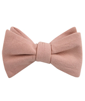 Dusty Rose Pink Self Bow Tie