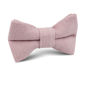 Dusty Rose Quartz Linen Kids Bow Tie