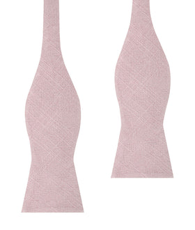 Dusty Rose Quartz Linen Self Bow Tie