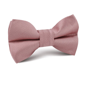 Dusty Rose Twill Kids Bow Tie