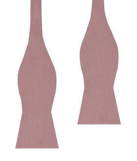 Dusty Rose Twill Self Bow Tie