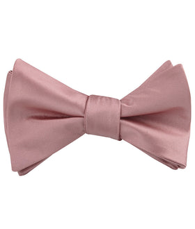 Dusty Rose Vintage Satin Self Tie Bow Tie