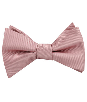 Dusty Rose Vintage Twill Self Bow Tie