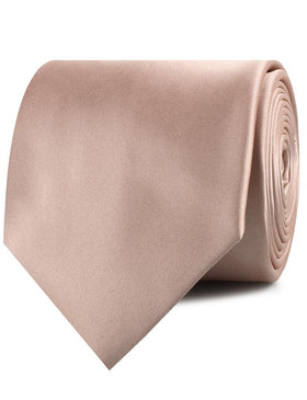 Dusty Blush Crisp Satin Necktie