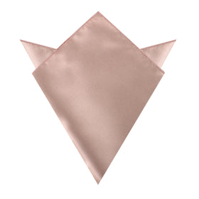 Dusty Blush Crisp Satin Pocket Square