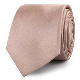 Dusty Blush Crisp Satin Skinny Tie