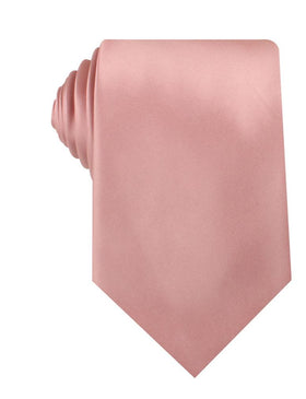 Dusty Blush Pink Satin Necktie