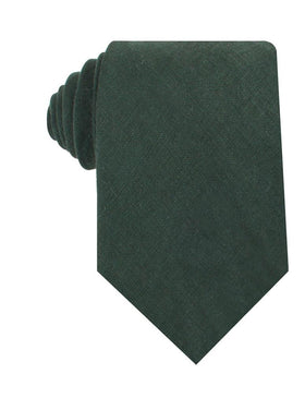 Dusty Emerald Green Linen Necktie