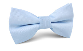 Dusty Ice Blue Weave Bow Tie