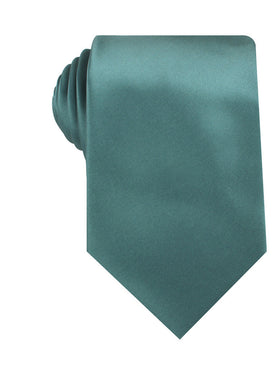 Dusty Jade Green Satin Necktie