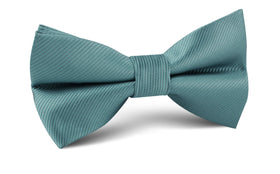 Dusty Jade Green Twill Bow Tie