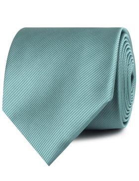 Dusty Jade Green Twill Necktie