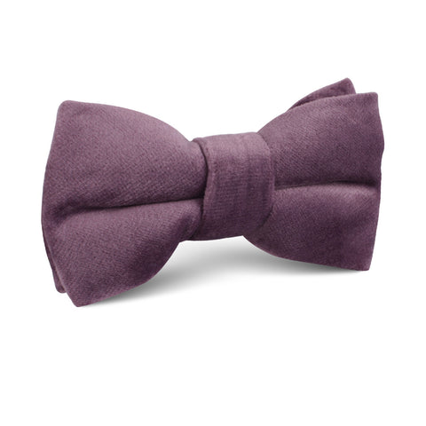 Dusty Lilac Purple Velvet Kids Bow Tie