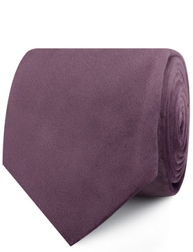 Dusty Lilac Purple Velvet Necktie
