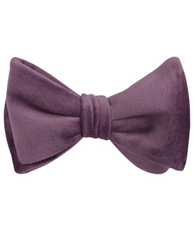 Dusty Lilac Purple Velvet Self Bow Tie