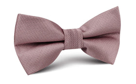 Dusty Mauve Quartz Weave Bow Tie