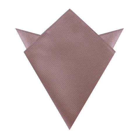Dusty Mauve Quartz Weave Pocket Square