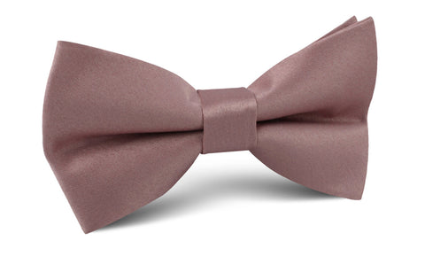 Dusty Mauve Satin Bow Tie