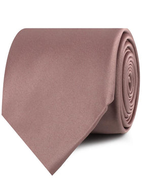 Dusty Mauve Satin Necktie