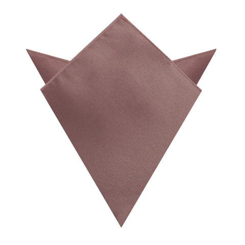 Dusty Mauve Satin Pocket Square