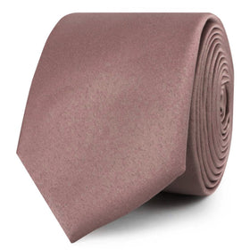 Dusty Mauve Satin Skinny Tie