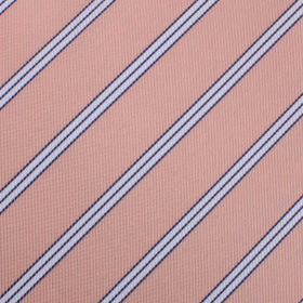 Dusty Peach Copacabana Striped Pocket Square