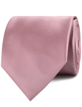 Dusty Rose Pink Satin Necktie