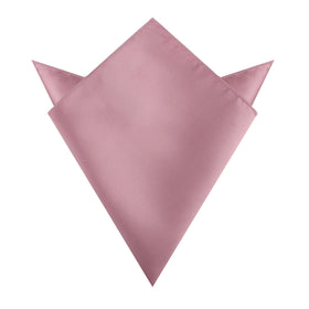 Dusty Rose Pink Satin Pocket Square