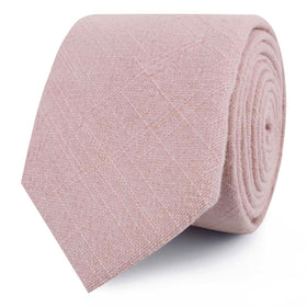 Dusty Rose Quartz Linen Skinny Tie