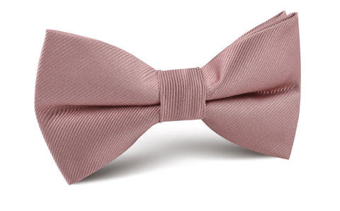 Dusty Rose Twill Bow Tie