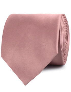 Dusty Rose Vintage Satin Necktie