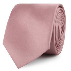 Dusty Rose Vintage Satin Skinny Tie