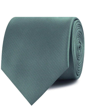 Dusty Teal Blue Weave Necktie