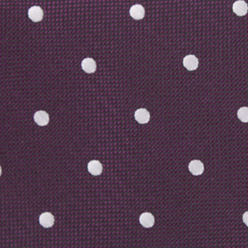 Eggplant Plum Purple with White Polka Dots Bow Tie