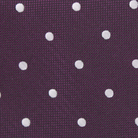 Eggplant Plum Purple with White Polka Dots Kids Bow Tie