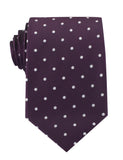 Eggplant Plum Purple with White Polka Dots Necktie